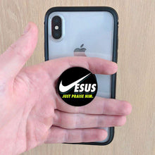 Load image into Gallery viewer, Designs by MyUtopia Shout Out:Jesus: Just Praise Him! Pop-out Phone Grip for Smartphones and Tablets