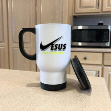 Load image into Gallery viewer, Designs by MyUtopia Shout Out:Jesus Just Praise Him Travel Mug