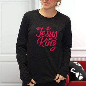 Designs by MyUtopia Shout Out:Jesus King Long Sleeve Ultra Cotton T-Shirt
