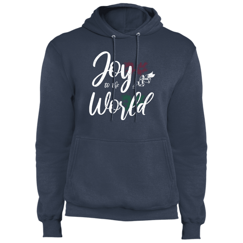 Designs by MyUtopia Shout Out:Joy to the World - Core Fleece Unisex Pullover Hoodie,Navy / S,Sweatshirts