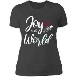 Designs by MyUtopia Shout Out:Joy to the World - Ultra Cotton Ladies' T-Shirt,Heavy Metal / X-Small,Ladies T-Shirts