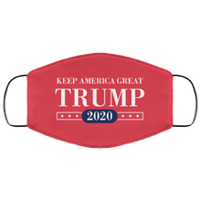 Load image into Gallery viewer, Designs by MyUtopia Shout Out:Keep America Great Trump 2020 Adult Fabric Face Mask with Elastic Ear Loops,3 Layer Fabric Face Mask / Red / Adult,Fabric Face Mask