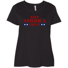 Load image into Gallery viewer, Designs by MyUtopia Shout Out:Keep America Great Trump Ladies' Curvy T-Shirt,Black / Plus 1X,T-Shirts