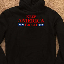 Load image into Gallery viewer, Designs by MyUtopia Shout Out:Keep America Great v2 Core Fleece Pullover Hoodie