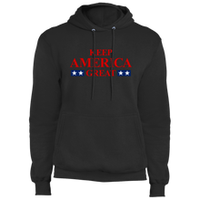 Load image into Gallery viewer, Designs by MyUtopia Shout Out:Keep America Great v2 Core Fleece Pullover Hoodie,S / Jet Black,Pullover Hoodie