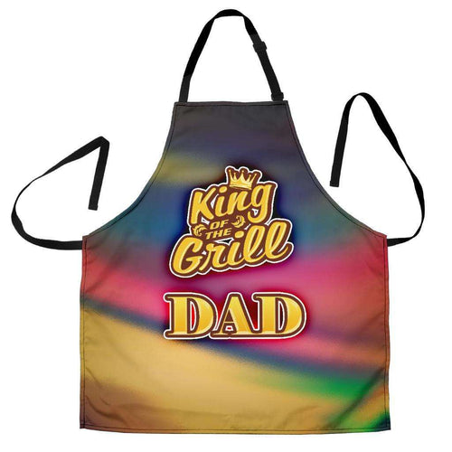 Designs by MyUtopia Shout Out:King of the Grill DAD Apron, Kitchen, Baking, BBQ, Grilling,King of the Grill DAD / Universal Fit,Apron