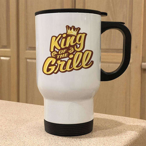 Designs by MyUtopia Shout Out:King of the Grill Travel Mug