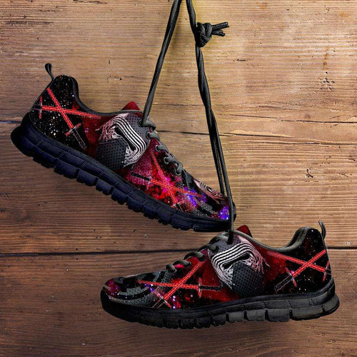 Designs by MyUtopia Shout Out:Kylo Ren Fan Running Shoes,Kid's / 11 CHILD (EU28) / Bright Pink/Black,Running Shoes