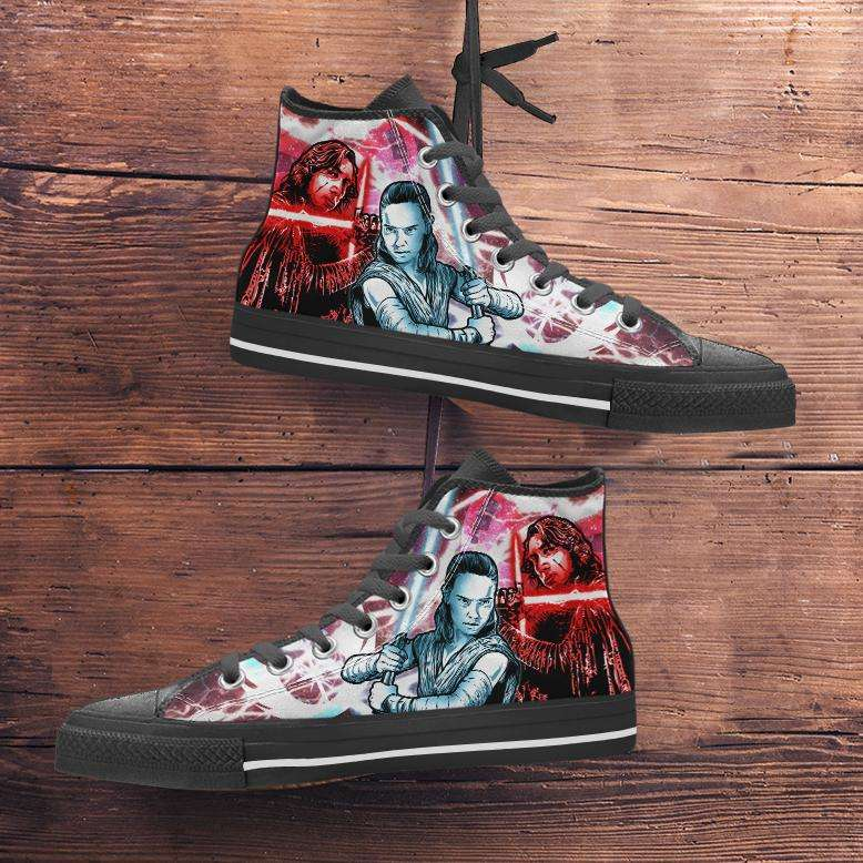 Designs by MyUtopia Shout Out:Kylo Rey Force Bond Canvas High Top Shoes