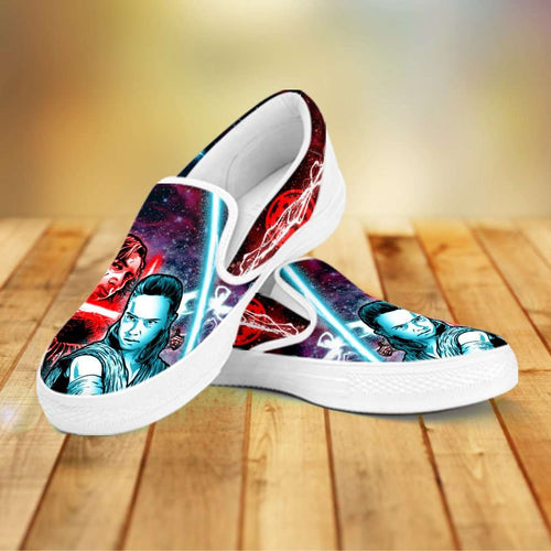 Designs by MyUtopia Shout Out:Kylo Rey Force Bond Slip-on Shoes