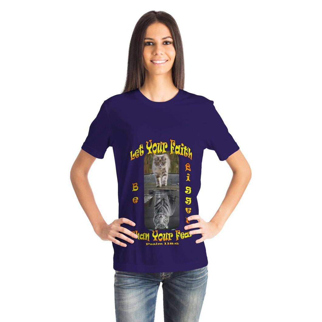Designs by MyUtopia Shout Out:Let Your Faith Be Bigger Than Your Fear T-Shirt,XS,Adult Unisex T-Shirt