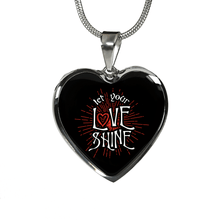 Load image into Gallery viewer, Designs by MyUtopia Shout Out:Let Your Love Shine Heart Bangel