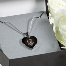 Load image into Gallery viewer, Designs by MyUtopia Shout Out:Let Your Love Shine Heart Bangel,Luxury Adjustable Necklace / No / Black/Silver,Necklace