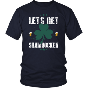 Designs by MyUtopia Shout Out:Let's Get Shamrocked T-shirt,Navy / S,Adult Unisex T-Shirt