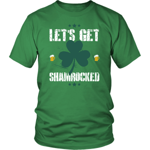 Designs by MyUtopia Shout Out:Let's Get Shamrocked T-shirt,Kelly Green / S,Adult Unisex T-Shirt