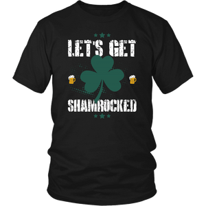 Designs by MyUtopia Shout Out:Let's Get Shamrocked T-shirt,Black / S,Adult Unisex T-Shirt
