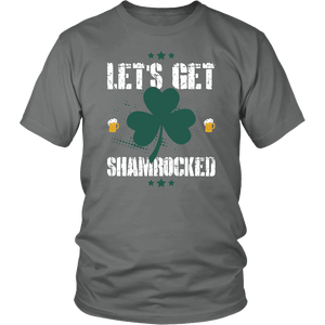 Designs by MyUtopia Shout Out:Let's Get Shamrocked T-shirt,Grey / S,Adult Unisex T-Shirt
