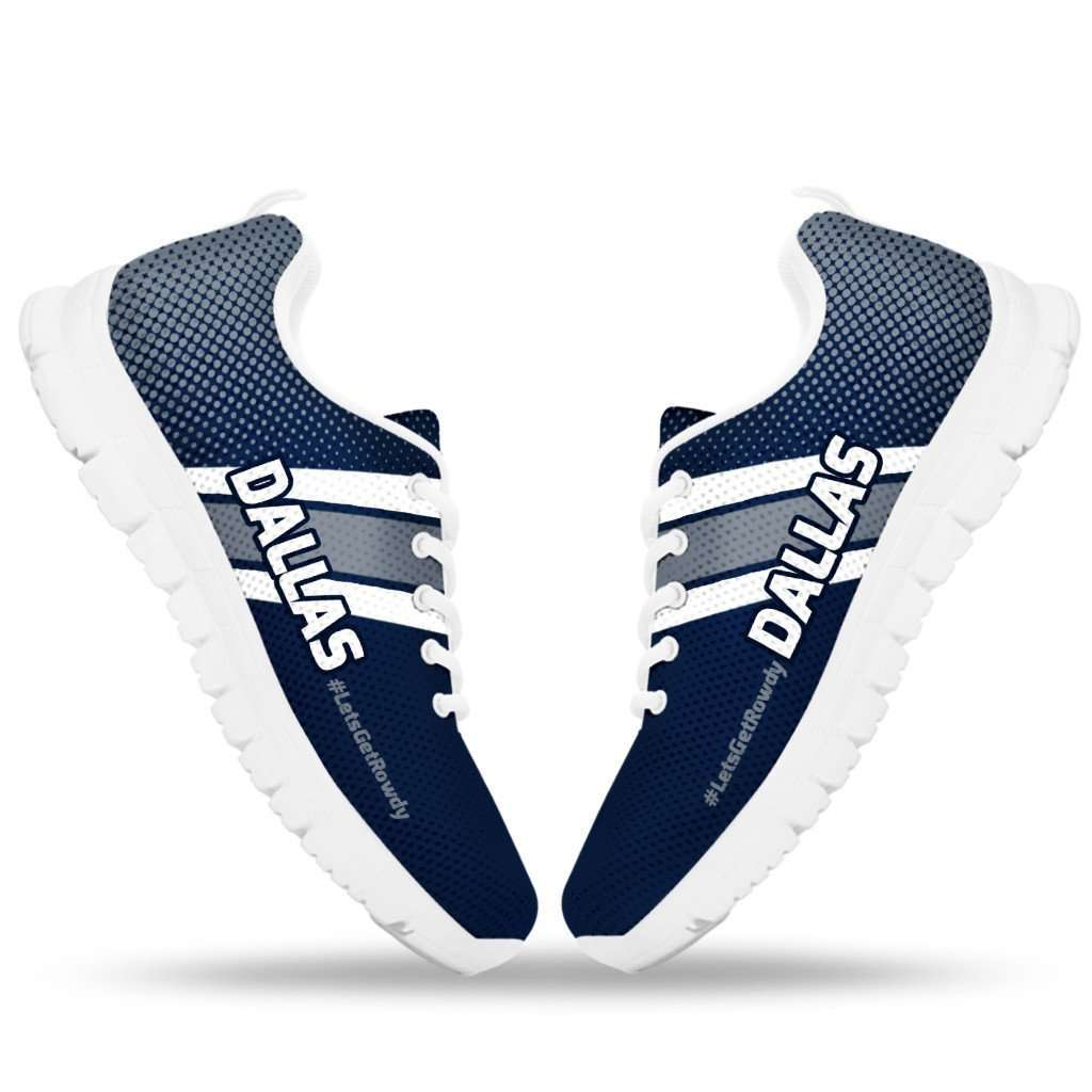 Designs by MyUtopia Shout Out:#LetsGetRowdy Dallas Fan Running Shoes v.2