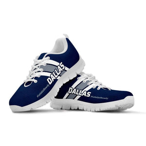 Designs by MyUtopia Shout Out:#LetsGetRowdy Dallas Fan Running Shoes,Kid's / 11 CHILD (EU28) / Navy Blue/Grey,Running Shoes
