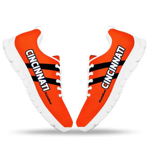 Designs by MyUtopia Shout Out:#LetsRoar Cincinnati Fan Running Shoes