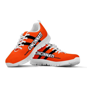 Designs by MyUtopia Shout Out:#LetsRoar Cincinnati Fan Running Shoes,Kid's / 11 CHILD (EU28) / Orange,Running Shoes