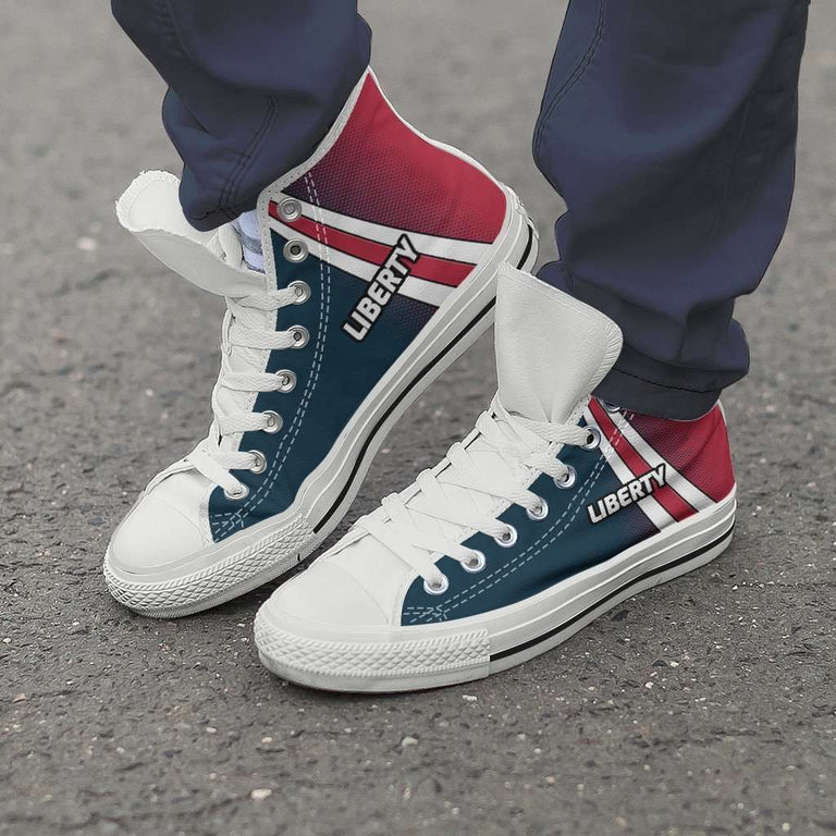 Designs by MyUtopia Shout Out:#Liberty Canvas High Top Shoes
