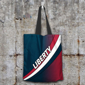 Designs by MyUtopia Shout Out:Liberty Fan Fabric Totebag Reusable Shopping Tote