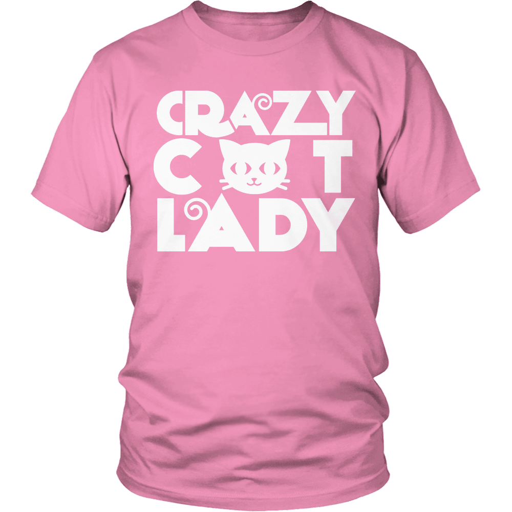 Designs by MyUtopia Shout Out:Limited Edition - Crazy Cat Lady,Unisex Shirt / Pink / S,Adult Unisex T-Shirt