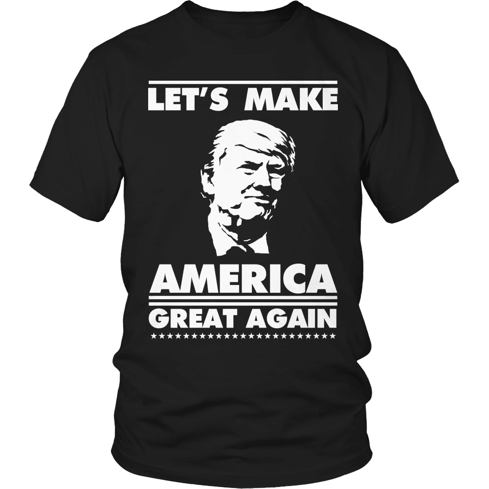 Designs by MyUtopia Shout Out:Limited Edition - Let's Make America Great Again,Unisex Shirt / Black / S,Adult Unisex T-Shirt