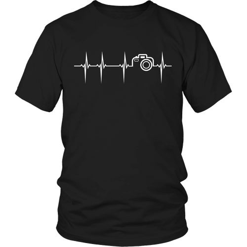 Designs by MyUtopia Shout Out:Limited Edition - Photography Pulse,Unisex Shirt / Black / S,Adult Unisex T-Shirt