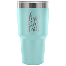 Load image into Gallery viewer, Designs by MyUtopia Shout Out:Love Never Fails Engraved Insulated Double Wall Steel Tumbler Travel Mug,Light Blue / 30 Oz,Polar Camel Tumbler