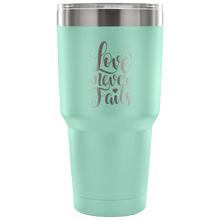 Load image into Gallery viewer, Designs by MyUtopia Shout Out:Love Never Fails Engraved Insulated Double Wall Steel Tumbler Travel Mug,Teal / 30 Oz,Polar Camel Tumbler