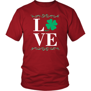 Designs by MyUtopia Shout Out:Love St. Patrick's Day T-shirt,Red / S,Adult Unisex T-Shirt