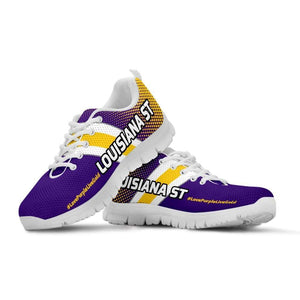 Designs by MyUtopia Shout Out:#LovePurpleLiveGold Louisiana St Fan Running Shoes,Kid's / 11 CHILD (EU28) / Purple/Gold,Running Shoes