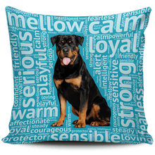 Load image into Gallery viewer, Designs by MyUtopia Shout Out:Loving Rottweiler Pillowcases,Blue,Pillowcases