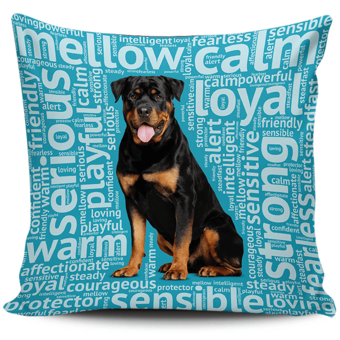 Designs by MyUtopia Shout Out:Loving Rottweiler Pillowcases,Blue,Pillowcases