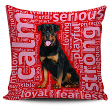 Load image into Gallery viewer, Designs by MyUtopia Shout Out:Loving Rottweiler Pillowcases,Red,Pillowcases