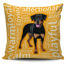 Load image into Gallery viewer, Designs by MyUtopia Shout Out:Loving Rottweiler Pillowcases,Gold,Pillowcases