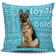 Load image into Gallery viewer, Designs by MyUtopia Shout Out:Loyal German Shepherd Pillowcases,Blue,Pillowcases