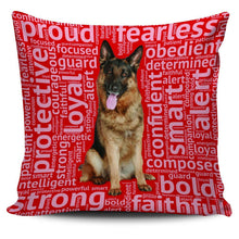 Load image into Gallery viewer, Designs by MyUtopia Shout Out:Loyal German Shepherd Pillowcases,Red,Pillowcases