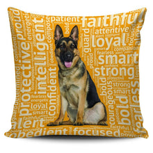 Load image into Gallery viewer, Designs by MyUtopia Shout Out:Loyal German Shepherd Pillowcases,Gold,Pillowcases