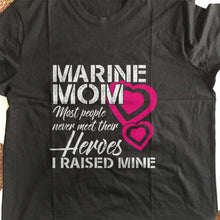 Load image into Gallery viewer, Designs by MyUtopia Shout Out:Marine Mom Adult Unisex T-Shirt
