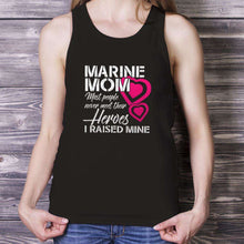 Load image into Gallery viewer, Designs by MyUtopia Shout Out:Marine Mom Cotton Unisex Tank Top,Black / X-Small,Tank Tops