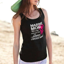 Load image into Gallery viewer, Designs by MyUtopia Shout Out:Marine Mom Cotton Unisex Tank Top