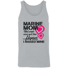 Load image into Gallery viewer, Designs by MyUtopia Shout Out:Marine Mom Cotton Unisex Tank Top,Athletic Heather / X-Small,Tank Tops