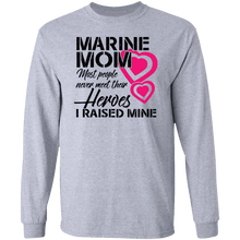 Load image into Gallery viewer, Designs by MyUtopia Shout Out:Marine Mom Long Sleeve Ultra Cotton Unisex T-Shirt,Sport Grey / S,Long Sleeve T-Shirts