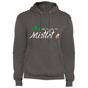 Designs by MyUtopia Shout Out:Meet Me Under the Mistletoe - Core Fleece Unisex Pullover Hoodie,Charcoal / S,Sweatshirts