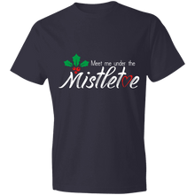 Load image into Gallery viewer, Designs by MyUtopia Shout Out:Meet Me Under the Mistletoe - Lightweight T-Shirt 4.5 oz,Navy / S,Adult Unisex T-Shirt