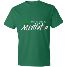 Load image into Gallery viewer, Designs by MyUtopia Shout Out:Meet Me Under the Mistletoe - Lightweight T-Shirt 4.5 oz,Kelly Green / S,Adult Unisex T-Shirt