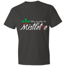 Load image into Gallery viewer, Designs by MyUtopia Shout Out:Meet Me Under the Mistletoe - Lightweight T-Shirt 4.5 oz,Smoke / S,Adult Unisex T-Shirt